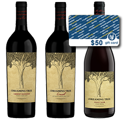 Dreaming Tree Red Wine 3 Pack + $50 Ticketmaster Gift Card