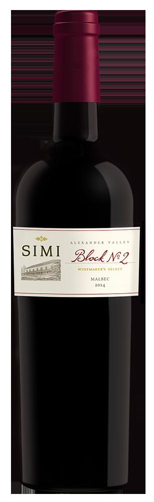 2014 SIMI Winemaker's Select Block No 2 Malbec Alexander Valley