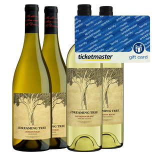 The Dreaming Tree White Wine 4 Pack + $50 Ticketmaster Gift Card