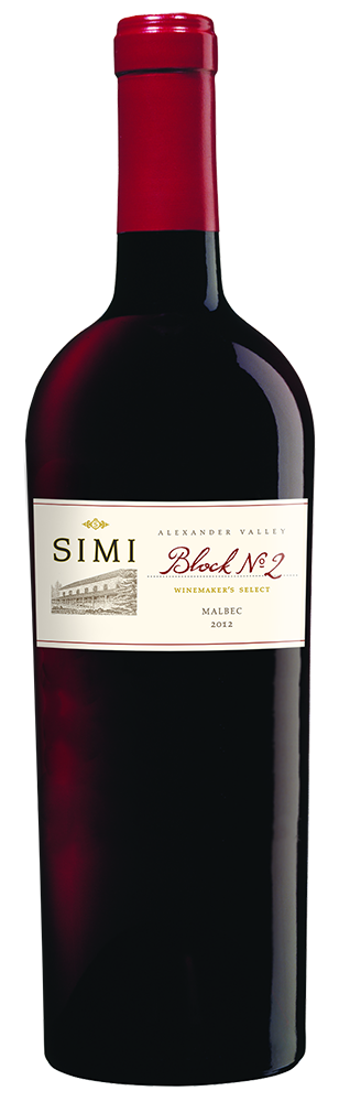 2012 SIMI Winemaker's Select Block No 2 Malbec Alexander Valley