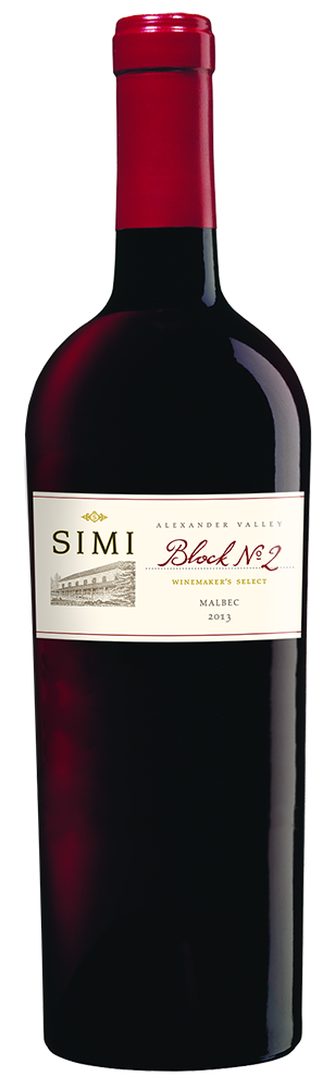 2013 SIMI Winemaker's Select Block No 2 Malbec Alexander Valley