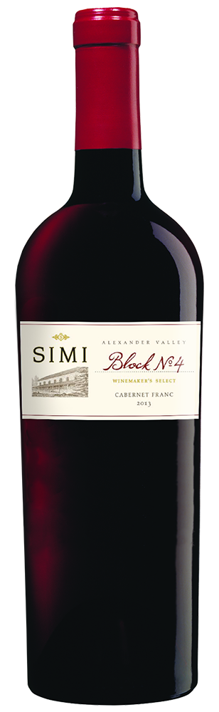 2013 SIMI Winemaker's Select Block No 4 Cabernet Franc Alexander Valley