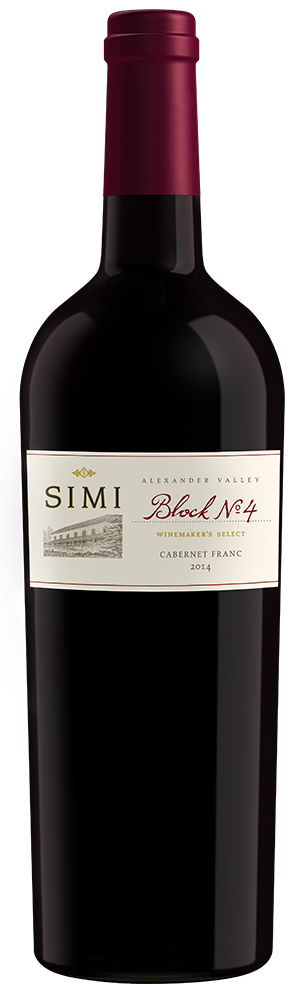 2014 SIMI Winemaker's Select Block No 4 Cabernet Franc Alexander Valley